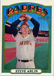 1972 Topps Baseball Cards      078      Steve Arlin RC